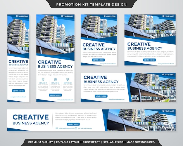 Multipurpose promotion kit template clean and minimalist style