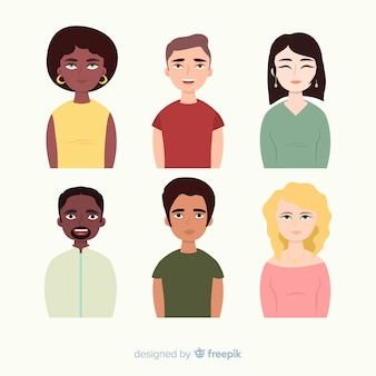 Multiracial group of people background