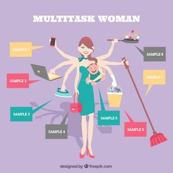 Multitask woman