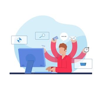 Concetto di multitasking Vettore gratuito