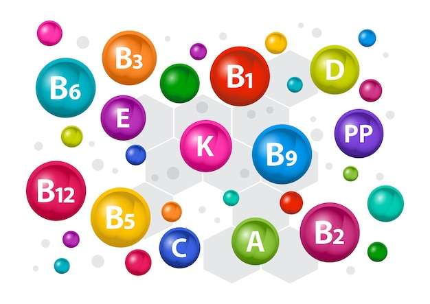 Multivitamin complex vitamin icon illustration
