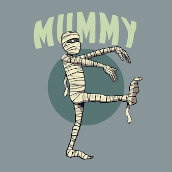 Mummy character for halloween