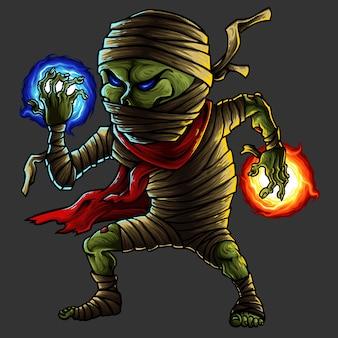 Mummy halloween monster character