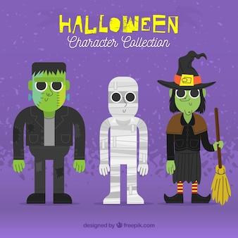 Pacchetto mummia con altri personaggi amichevoli di halloween