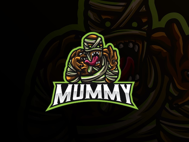 Мумия спортивный дизайн логотипа