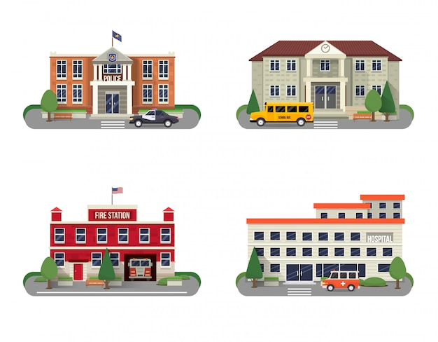 Municipal buildings set