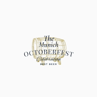 Munick octoberfest beer festival abstract  sign, symbol or logo template.