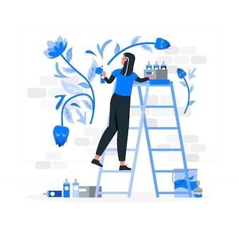 Mural artist concept illustration