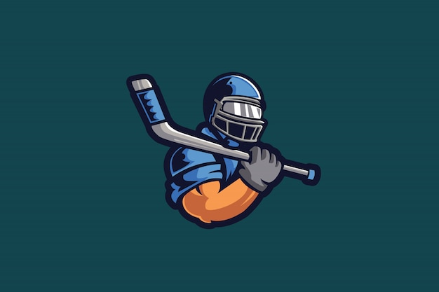 Muscle athlete e sports logo