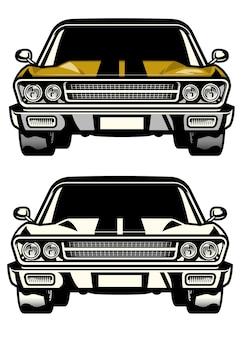 Классический вид спереди muscle car