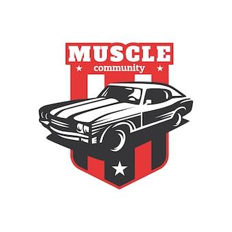 Muscle car community logo