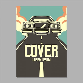 Muscle car vector cover
