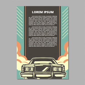Muscle car vector layout