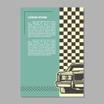 Векторный макет muscle car