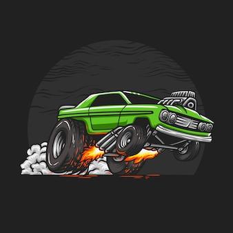 Muscle car рисованной