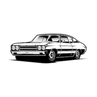 Muscle car иллюстрация