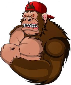 Muscle gorilla cartoon