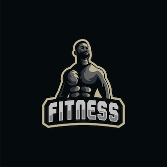 Muscle logo  illustration