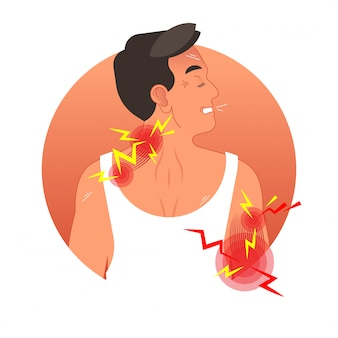 Muscles pain concept vector illustration