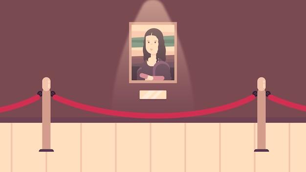 Museum hallway background vector illustration