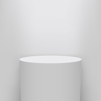 Museum pedestal background, stage, 3d podium presentation.