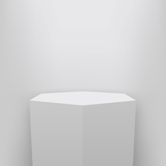 Museum pedestal, stage, 3d podium presentation background