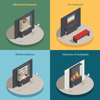 Museum showcase isometric
