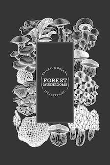 Mushroom banner template