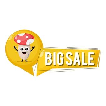 Mushroom big sale cute character mascot