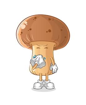 버섯 불고 코 캐릭터. 만화 마스코트