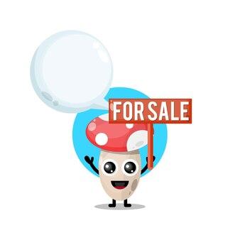 버섯 판매 귀여운 캐릭터 마스코트