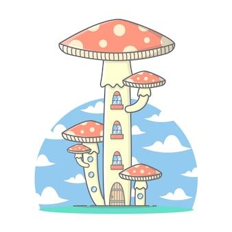 Mushroom hotel house