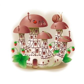 Mushroom house for gnome