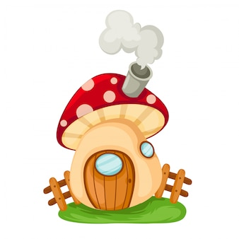 Mushroom house illustration