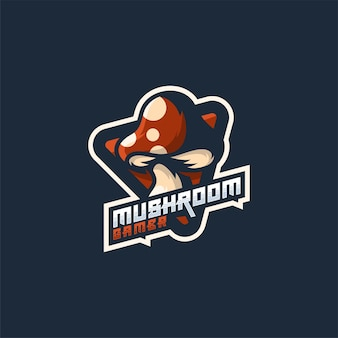 Mushroom logo design vector flat color