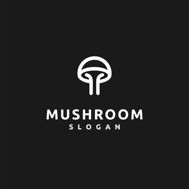Грибной логотип с простой концепцией