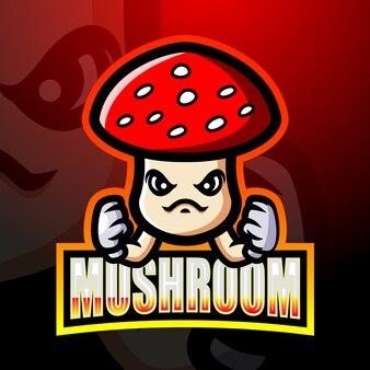 Mushroom mascot esport illustration