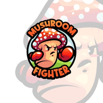 Mushroom mascot logo template