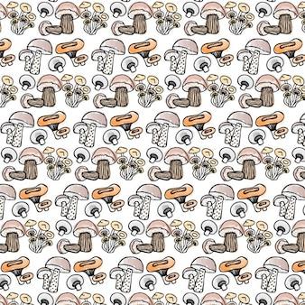 버섯 패턴