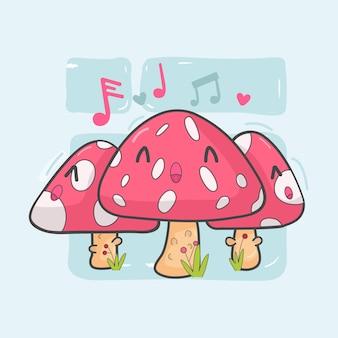 Mushroom plant in scene fairytale