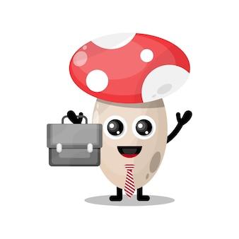 버섯 작품 귀여운 캐릭터 마스코트