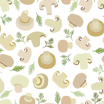 Mushrooms background