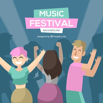 Musiс festival background in flat design