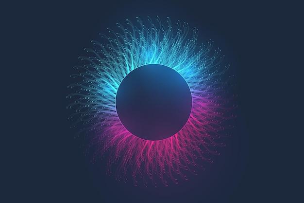 音楽の抽象的な背景。ミュージックウェーブポスターデザイン。抽象的なグラデーションライン波、ベクトルの概念を持つサウンドチラシ。