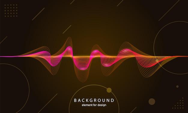 音楽の抽象的な背景