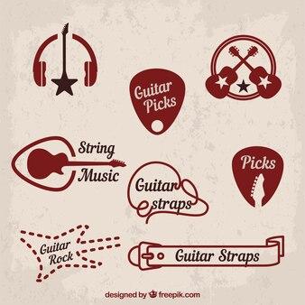 Music and classic rock symbols