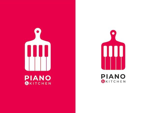 Музыка и концепция дизайна логотипа кухни