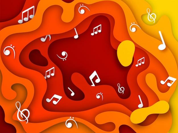 Музыкальный фон с музыкальными нотами.