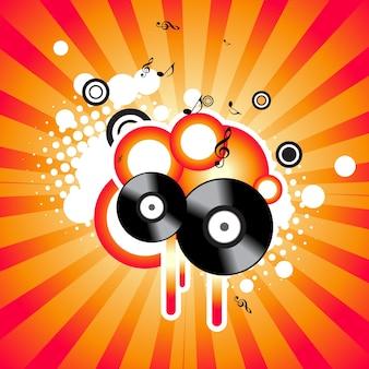 音楽の背景 Premiumベクター