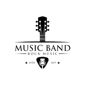 Music and band classic vintage logo